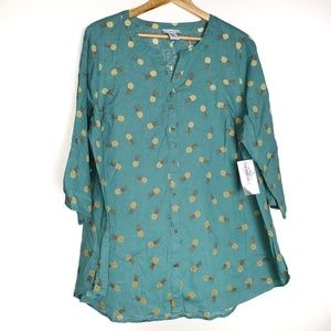 Catherines pineapple button down shirt F19
